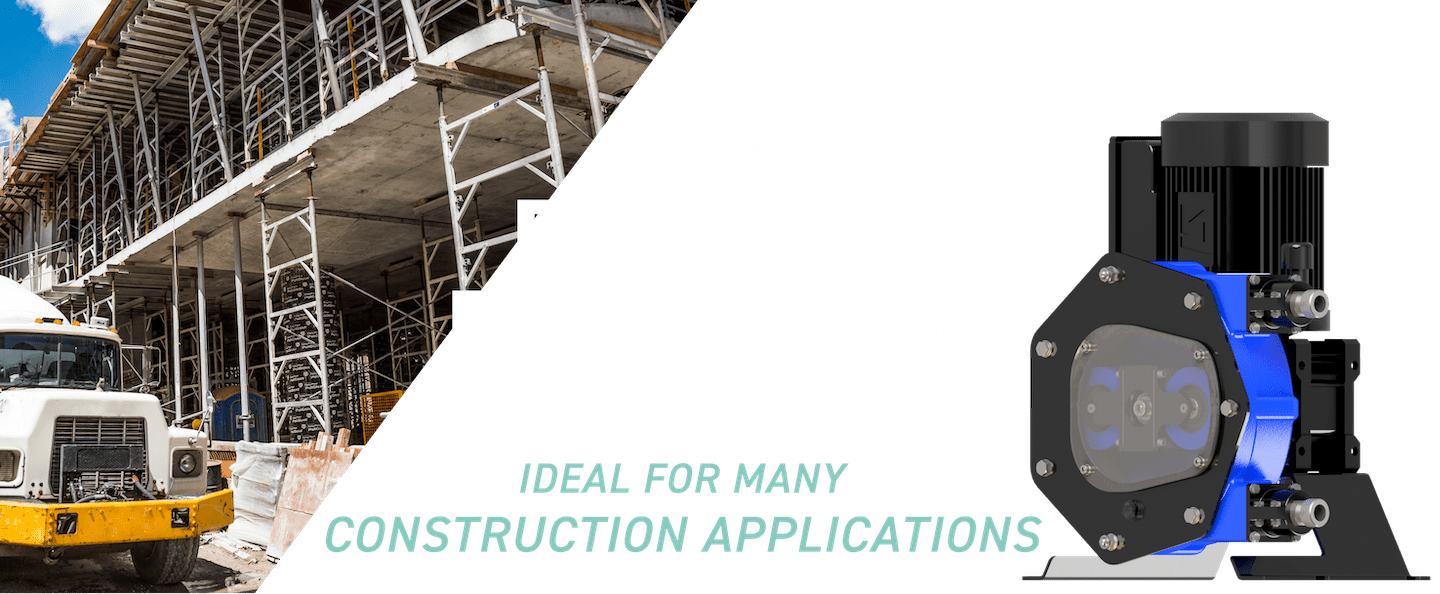 Heavy-duty peristaltic pumps - ideal for many construction applications