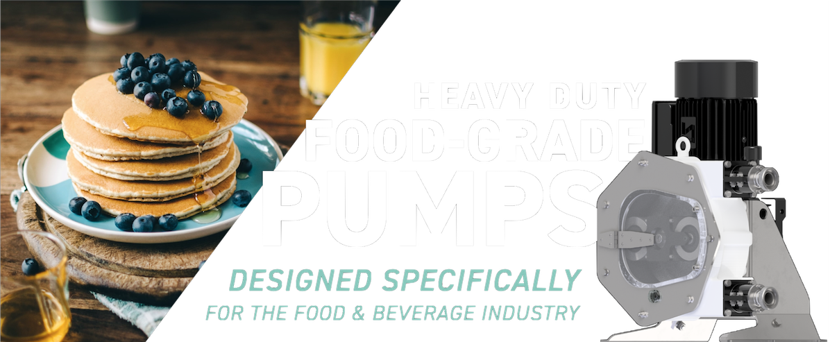 Heavy-duty food-grade pumps- designed specifically for the food & beverage industry